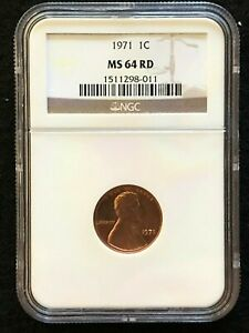 1971 P LINCOLN MEMORIAL CENT 1C NGC MS64 RD