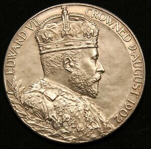 Click now to see the BUY IT NOW Price! 1902 KING EDWARD VII CORONATION CELEBRATION SILVER MEDAL ROYAL MINT UNCIRCULATED