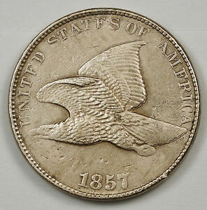 1857/1857 FLYING EAGLE.  ERROR. DDO. EAGLES FEATHERS DOUBLED RIGHT.  X.F.  96404