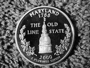 Click now to see the BUY IT NOW Price! 252   2000 S PROOF MARYLAND STATE  QUARTERS FROM PROOF SETS