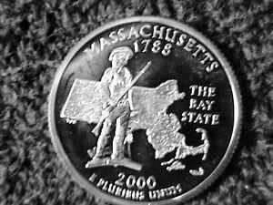 Click now to see the BUY IT NOW Price! 253   2000 S PROOF MASSACHUSETTS STATE  QUARTERS FROM PROOF SETS