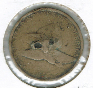 1857 CIRCULATED FLYING EAGLE ONE CENT COIN