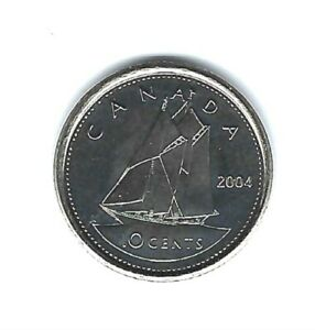 2005 P CANADIAN BRILLIANT UNCIRCULATED BUSINESS STRIKE 10 CENT COIN