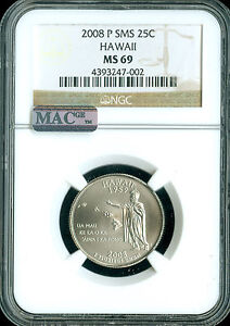 Click now to see the BUY IT NOW Price! 2008 P HAWAII QUARTER NGC MAC MS69 SMS PQ FINEST REGISTRY POP 7  IN 10 YEARS