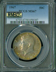 Click now to see the BUY IT NOW Price! 1967 KENNEDY HALF DOLLAR PCGS MAC MS67 RNBO RAINBOW FINEST REGISTRY