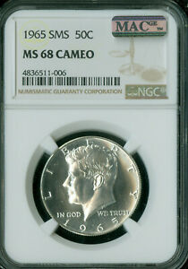 Click now to see the BUY IT NOW Price! 1965 KENNEDY HALF DOLLAR NGC MAC MS68 PQ CAMEO FINEST REGISTRY SPOTLESS