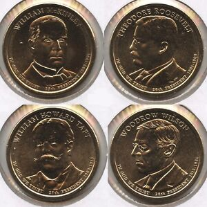 2013 D PRESIDENTIAL DOLLAR SET   MCKINLEY ROOSEVELT TAFT WILSON   LOT COLLECTION