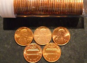 1977 D LINCOLN CENT PENNY CHOICE/GEM BU ROLL UNCIRCULATED