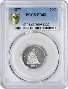 Click now to see the BUY IT NOW Price! 1877 TWENTY CENT PIECE PR63 PCGS