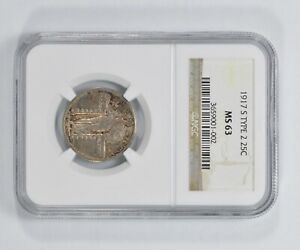 MS63 1917 S STANDING LIBERTY QUARTER   TYPE 2   NGC GRADED  5503