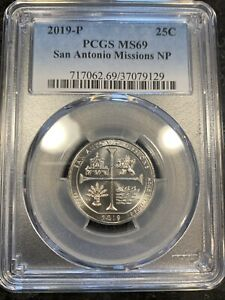 Click now to see the BUY IT NOW Price! 2019 P 25C SAN ANTONIO MISSIONS NP QUARTER PCGS MS69 REGISTRY POP 2/0 NONE FINER
