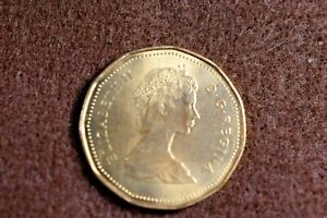 1987 CANADIAN LOOM ONE DOLLAR BU   TYPE COIN  FOR YOUR SET