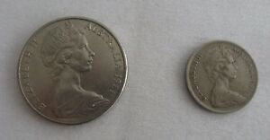 AUSTRALIA ELIZABETH II 5 CENT 1971 COIN & 20 CENT 1981 COIN VERY GOOD CONDITION