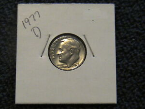 1977 D 10C ROOSEVELT DIME NO WEAR NICE & SHINY