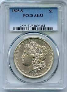 Click now to see the BUY IT NOW Price! 1893 S MORGAN SILVER DOLLAR PCGS AU53 $1 CERTIFIED COIN SAN FRANCISCO   JC145