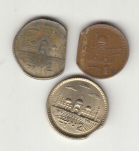 PAKISTAN LOT OF 3 OLD ERROR COINS