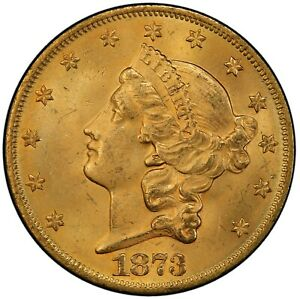 Click now to see the BUY IT NOW Price! 1873 $20 OPEN 3 LIBERTY HEAD DOUBLE EAGLE PCGS MS64  CAC