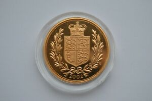 2002 QUINTUPLE SOVEREIGN 5 GOLD PROOF WITH CAPSULE