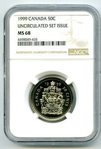 Click now to see the BUY IT NOW Price! 1999 CANADA 50 CENT NGC MS68 HALF DOLLAR LY   REGISTRY TOP POP 1