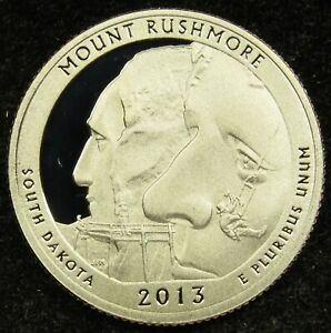 2013 S DEEP CAMEO CLAD PROOF MOUNT RUSHMORE AMERICA THE BEAUTIFUL QUARTER  B02