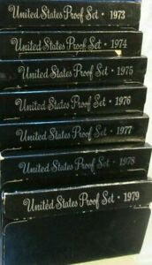 Click now to see the BUY IT NOW Price! 1973 1979 S    US MINT PROOF  SETS    7 SET LOT    ORIG GOV PKG