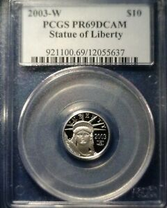 2003 W $10 PLATINUM EAGLE PROOF PCGS PR69 DCAM