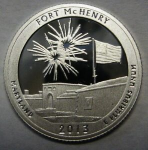2013 S FORT MCHENRY MARYLAND GEM DCAM CLAD PROOF PARKS QUARTER