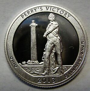 2013 S PERRY'S VICTORY OHIO GEM DCAM CLAD PROOF PARKS QUARTER STUNNING COIN