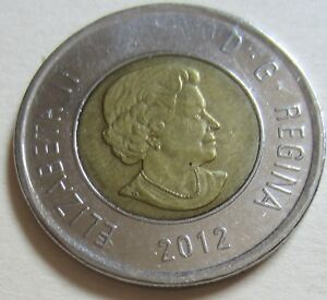 2012 CANADA TOONIE TWO DOLLAR COIN. UNC.  RJ601