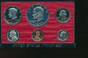 1977 S PROOF SET IN CAPSULE ONLY   HAS IKE DOLLAR