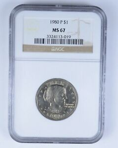MS67 1980 P SUSAN B. ANTHONY DOLLAR   NGC GRADED  6328