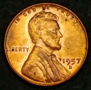ITM 882  1957 D [RD] LINCOLN WHEAT CENT   MINT CNDTN WITH NICE TONING