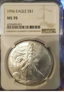 Click now to see the BUY IT NOW Price! 1996 MS70 AMERICAN SILVER EAGLE NGC