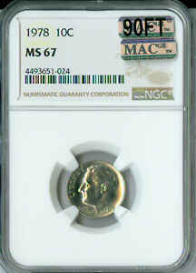 Click now to see the BUY IT NOW Price! 1978 ROOSEVELT DIME NGC MAC MS67 90FT PQ  SOLO FINEST SPOTLESS $10 000 IN FT