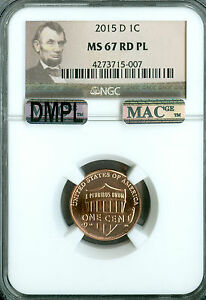 Click now to see the BUY IT NOW Price! 2015 D SHIELD CENT  NGC MAC MS67 RED PQ DMPL SPOTLESS