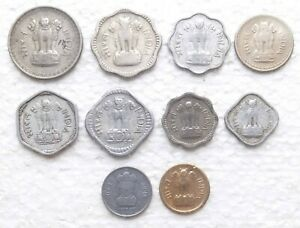 INDIA 10 DEFFERENT COINS 1 PAISA & OTHERS.COIN 483