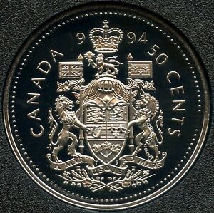 1994 CANADA PROOF UNCIRCULATED 50 CENT COIN
