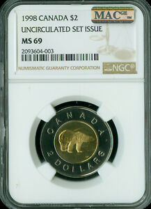 Click now to see the BUY IT NOW Price! 1998 CANADA $1 SILVER DOLLAR NGC MAC MS69 PQ SOLO FINEST GRADED SPOTLESS