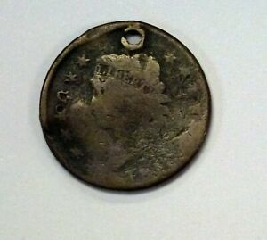 1810 LARGE CENT  CIRCULATED  HOLED