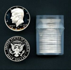 2019 S FIRST .999 FINE SILVER KENNEDY HALF DOLLAR PROOF ROLL  20 PIECES