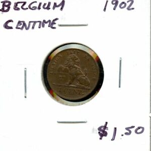 1902 BELGIUM ONE CENTIME COIN FH617