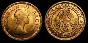 SOUTH AFRICA 1956 FARTHING / 1/4 PENCE CH BU
