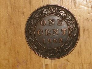 CANADA 1902 LARGE CENT COIN FINE NICE