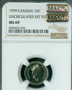 Click now to see the BUY IT NOW Price! 1999 CANADA 10 CENTS NGC MAC MS 69 PQ FINEST GRADE SPOTLESS