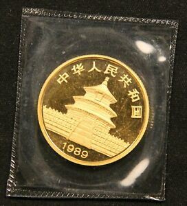 Click now to see the BUY IT NOW Price! 1989 CHINA GOLD 1/4 OZ PANDA SMALL DATE ORIGINAL MINT SEALED BU .999 PURE