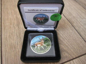 Click now to see the BUY IT NOW Price! 2013 FULLY COLORIZED ANTELOPE 1 OZ SILVER MAPLE LEAF. DISPLAY CASE & BOX. NO GST