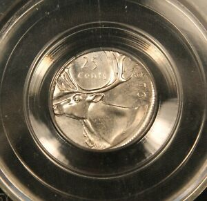 Click now to see the BUY IT NOW Price! 1976 CANADA 25 CENTS   ERROR STRUCK ON WRONG 10 CENTS DIME PLANCHET. CCCS MS64