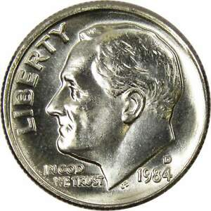 1984 D 10C ROOSEVELT DIME US COIN UNCIRCULATED MINT STATE