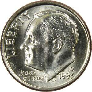 1993 D 10C ROOSEVELT DIME US COIN UNCIRCULATED MINT STATE