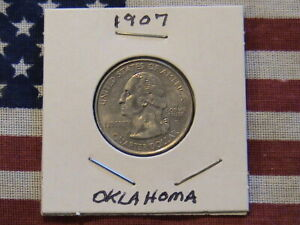 2008 D OKLAHOMA STATE QUARTER DOLLAR CU/NI CLAD 11 YEARS OLD  NICE COIN